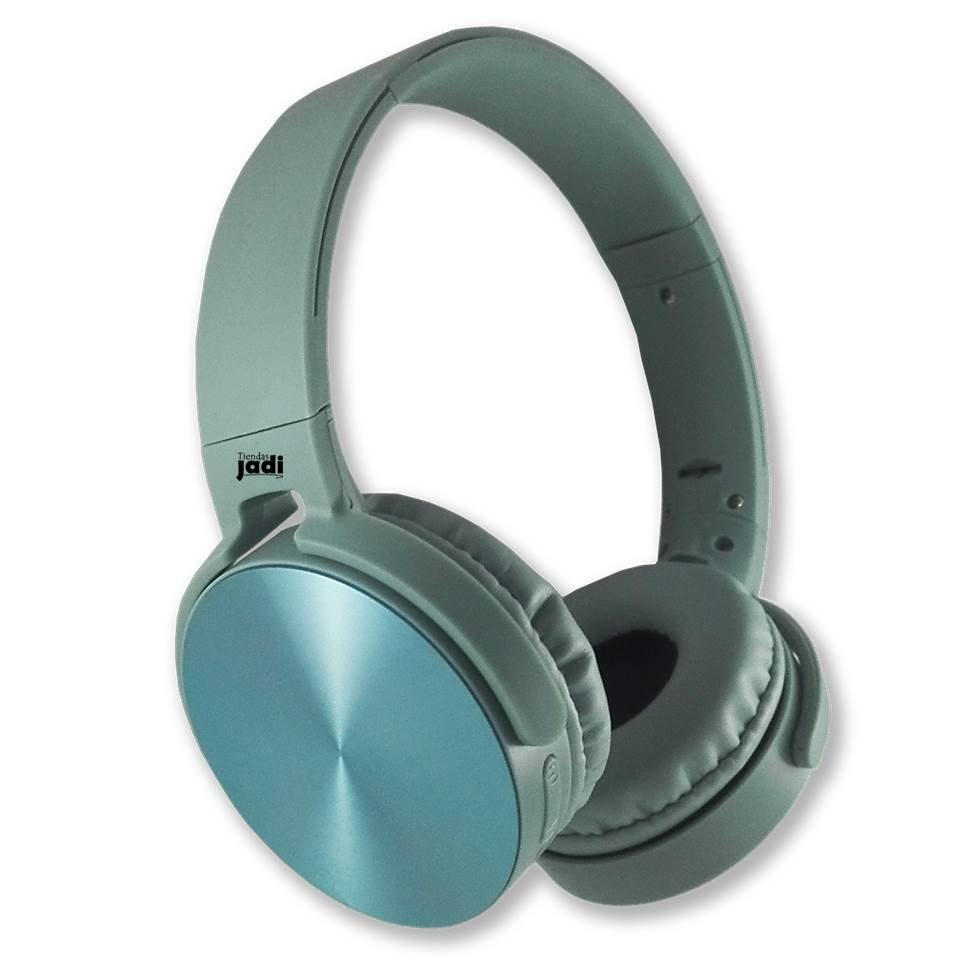 Audifonos Celeste Deportivo Inalambrico Bluetooth Para Pc Mp3 Sd Sl